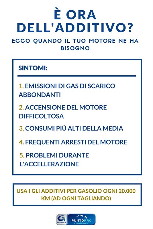 additivi per gasolio sintomi